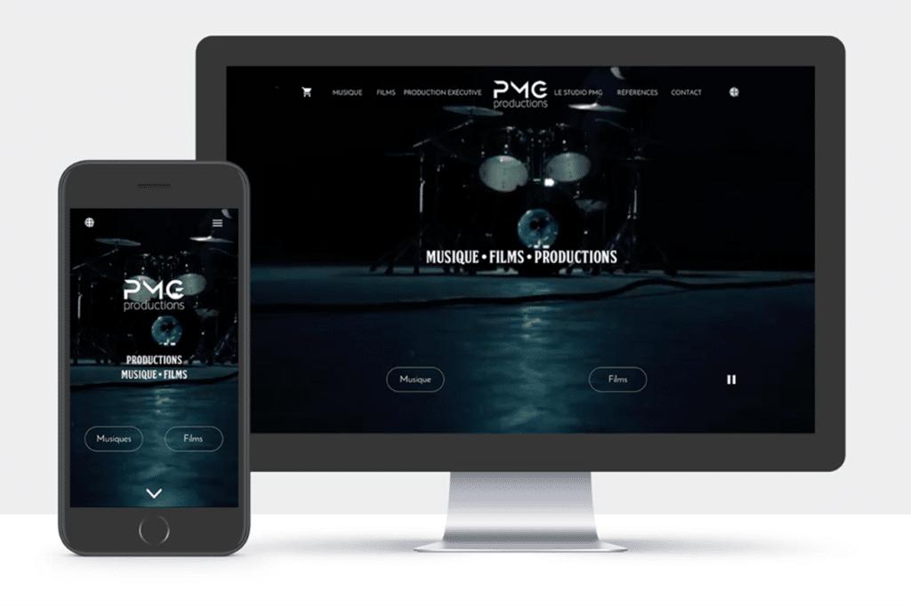 PMG Productions projet webdesigner
