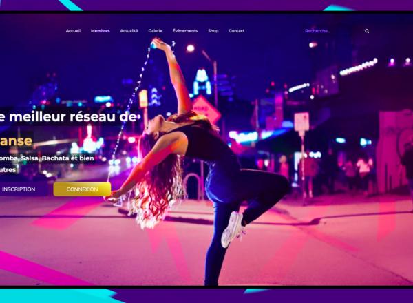 """Site web """"Aimer Danser Avenue"""""""