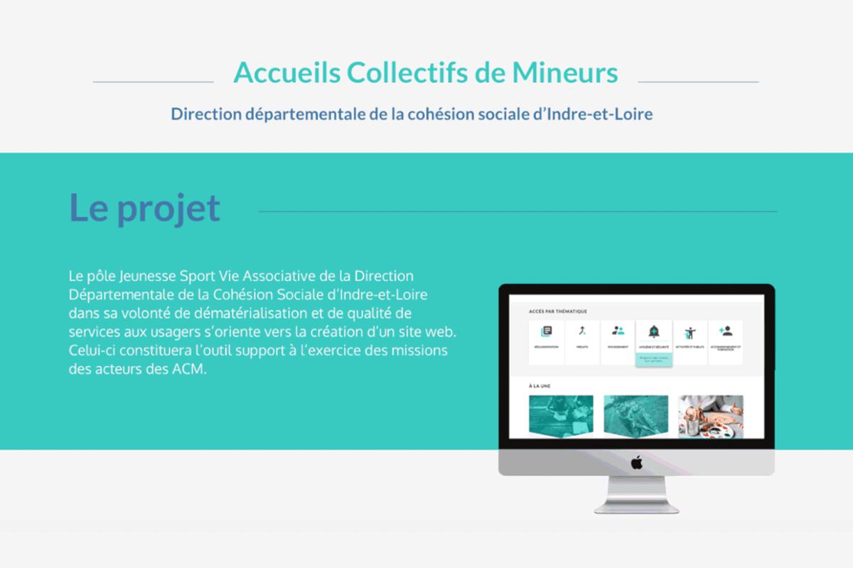 accueil-collectif-mineurs Direction du travail projet webdesigner